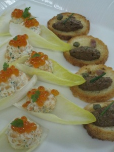 Chef Mavro canapes